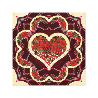 Happy Butterfly Mandala Canvas Print