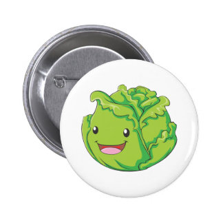 Happy Cabbage Vegetable Smiling 6 Cm Round Badge