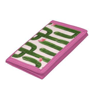 Happy Cacti pink wallet