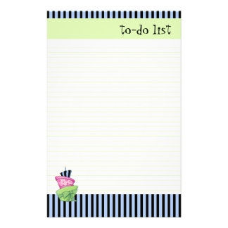 Happy Cake lined To-Do List Stationery