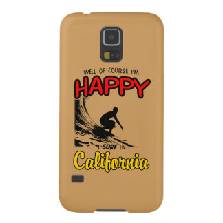 HAPPY CALIFORNIA SURFER 2 Black Case For Galaxy S5