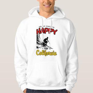 HAPPY CALIFORNIA SURFER 2 Black Hoodie