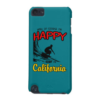 HAPPY CALIFORNIA SURFER 2 Black iPod Touch (5th Generation) Case