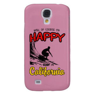 HAPPY CALIFORNIA SURFER 2 Black Samsung Galaxy S4 Cover