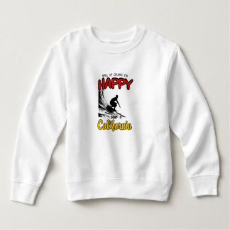 HAPPY CALIFORNIA SURFER 2 Black Sweatshirt