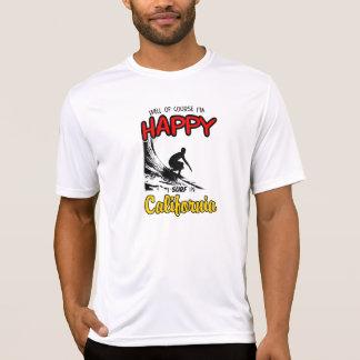 HAPPY CALIFORNIA SURFER 2 Black T-Shirt