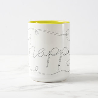 Happy Calligraphy Mug