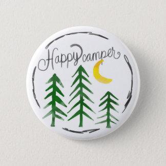 Happy Camper 6 Cm Round Badge