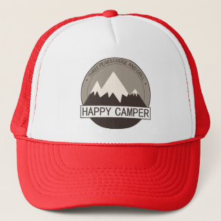 Happy Camper Badge trucker hat