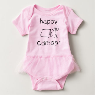 Happy Camper (blk) Baby Bodysuit