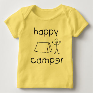 Happy Camper (blk) Baby T-Shirt