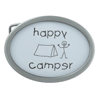 Happy Camper (blk) Belt Buckle