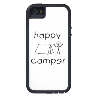 Happy Camper (blk) Cover For iPhone 5