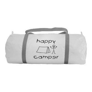 Happy Camper (blk) Gym Bag