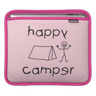 Happy Camper (blk) iPad Sleeve
