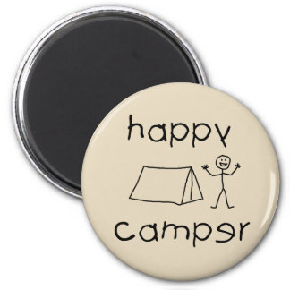 Happy Camper (blk) Magnet