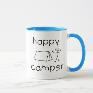 Happy Camper (blk) Mug