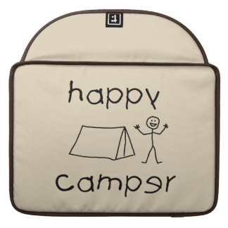 Happy Camper (blk) Sleeve For MacBooks