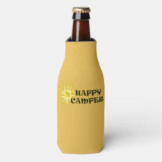 Happy Camper Camping Sunshine Bottle Cooler