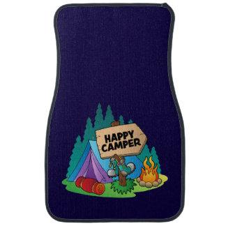 Happy Camper Car Mats (Front) (set of 2)