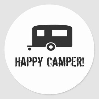 Happy Camper! Classic Round Sticker