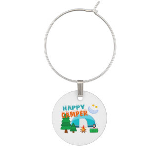 Happy Camper Cookout Wine Charm