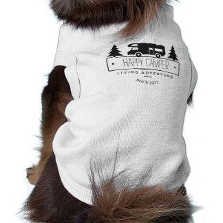 Happy Camper Dog | Cute Camping RVs RVers RVing Shirt