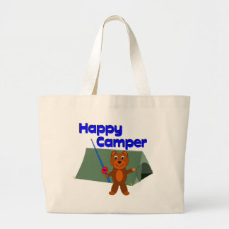Happy Camper Fishing Pole Canvas Bags