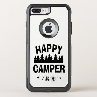 Happy Camper Fun Camping Quote OtterBox Commuter iPhone 8 Plus/7 Plus Case