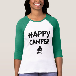 Happy Camper funny women's camping shirt
