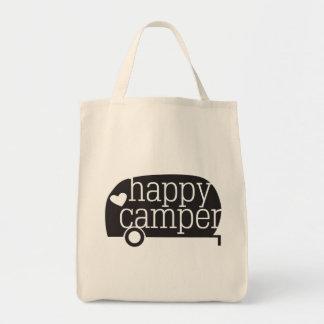 Happy Camper Grocery Tote Bag