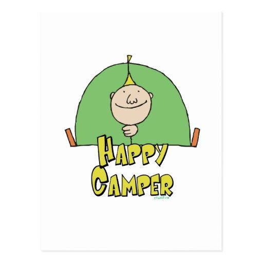 Happy Camper Guy Post Card