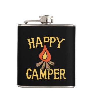happy camper hip flask