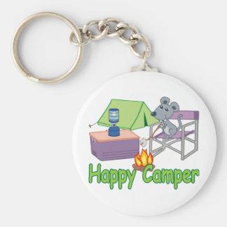 Happy Camper Key Ring