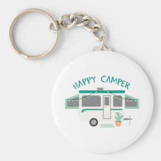 Happy Camper Key Ring