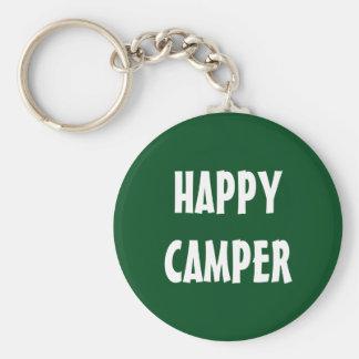 HAPPY CAMPER keychain for trailer or RV keys