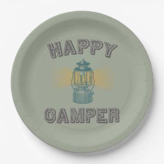 Happy Camper Lantern 9 Inch Paper Plate