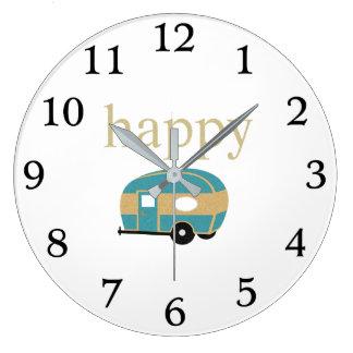Happy Camper Large Clock