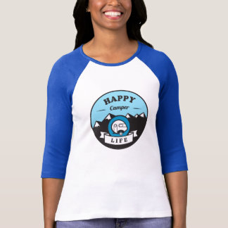 Happy Camper Life 3/4 Sleeve Raglan T-Shirt