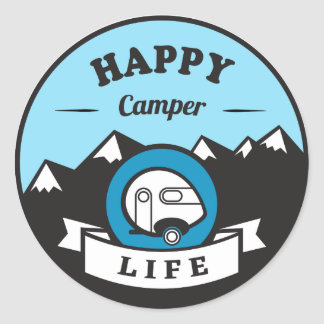 Happy Camper Life Sticker