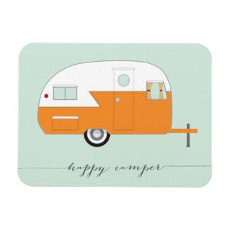 Happy Camper Magnet Orange