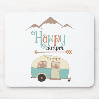 HAPPY CAMPER MOUSE PAD
