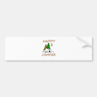 Happy Camper Outdoors Bumper Sticker
