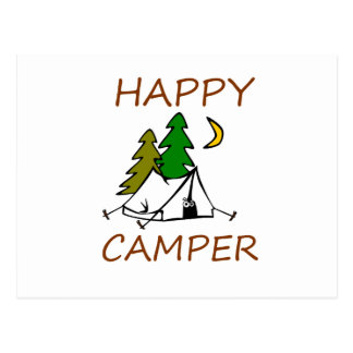 Happy Camper Outdoors Postcard