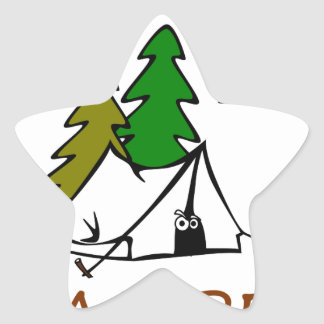 Happy Camper Outdoors Star Sticker