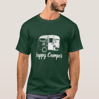 Happy Camper Retro Camping Trailer Camping Fun T-Shirt