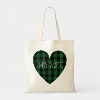 Happy Camper | Rustic Camping Heart Retired RVer Tote Bag