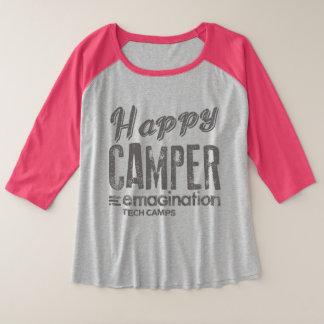 Happy Camper T Plus Size Raglan T-Shirt