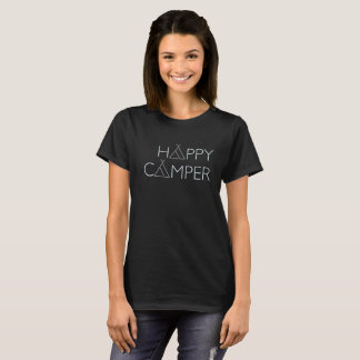 Happy Camper Tent Hipster Style Graphic Tee Shirt