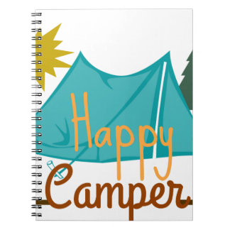 Happy Camper Tent Outdoors Notebooks